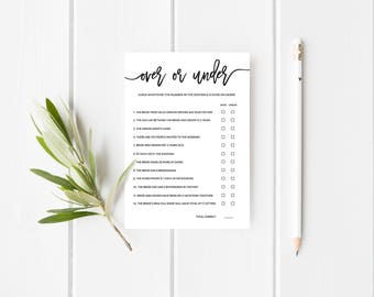 Advice for bride and groom editable wedding shower game over or under wedding shower game editable printable wedding shower game template instant download 5x7 no edn 5502 maxwellsz