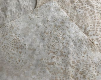 Coffee Dyed Tea Dyed Paper with Lace Imprint