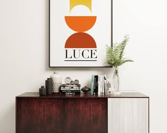 Luce - 1960s Style Advertising Graphic Design Poster
