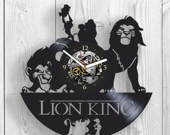 Lion King Gift For Kids, Lion King Vinyl Wall Clock, Disney Vinyl Record Wall Clock, Cartoon Vinyl Wall Clock, Birthday Gift For Brother