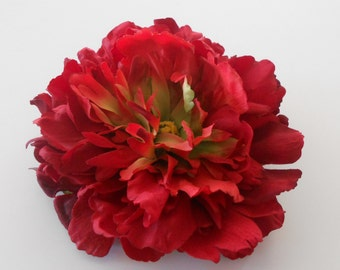 Red Silk Peony / Silk Flower / Artificial Flowers / Fake Flowers / Floral Supply / Crafting Flowers / Red Flowers / Peony Flowers