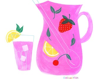 Wall Art Print - Pink Lemonade - Home Decor