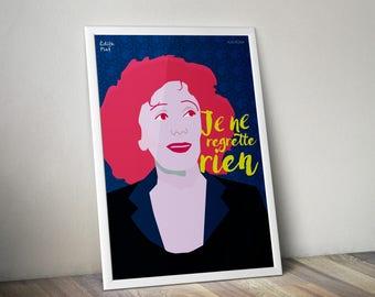 Édith Piaf Poster,  Édith Piaf Artwork , Édith Piaf Print