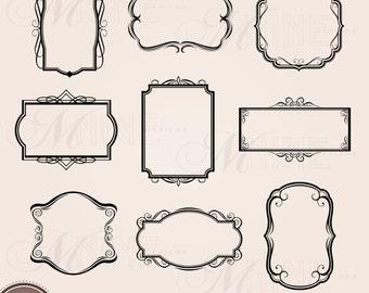 FRAME Clip Art VINTAGE Frames Borders Clipart Design Elements