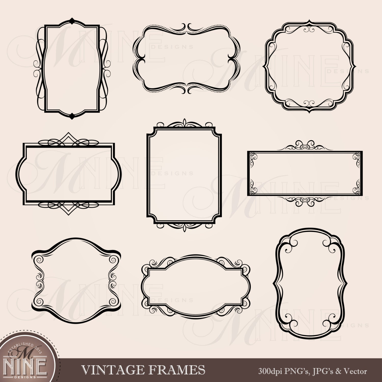 FRAME Clip Art VINTAGE Frames Borders Clipart