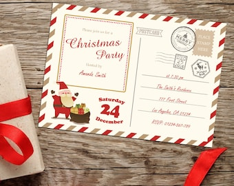 Christmas Party Invitation, Holiday Party Invitation, Christmas Card, Christmas Invite, Holiday Party Invite, Christmas Printable Invitation
