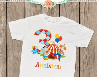 Personalized Circus Birthday Shirt or Bodysuit