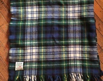 "Vintage Faribo Pure Wool Faribault Woolen Mill Blanket Throw 44"" x 48"""