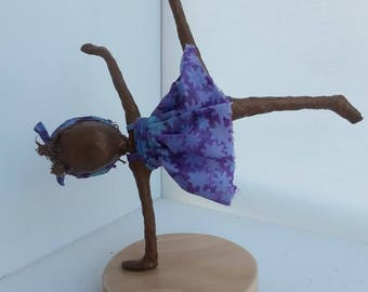 Girl doing a Cartwheel. Sculpture of girl. Sculpture of gymnast. Available