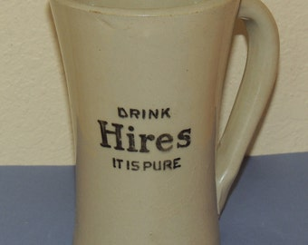 Antique Hires Pottery Mug
