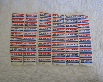 Lot of Vintage Air Mail Stickers put out by The Epilepsy Foundation lot of 60 stickers