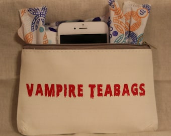 Vampire Teabags Tampon Holder Canvas Bag