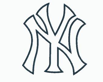 yankees applique etsy rh etsy com new york yankees font free download new york yankees font generator