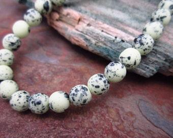 Speckled Green Eggs Matte Druk 6mm Beads