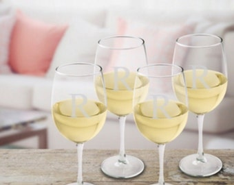 Personalized White Wine Glasses , Monogrammed Wine Glasses, White Wine Glasses, custom wine glasses, personalized wine glasses