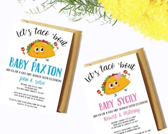 Baby Shower Invitation DIGITAL DOWNLOAD / Baby Shower Invitation / Taco Bar / Baby / Pregnant / Mother-to-be /Celebration / Party / Fiesta