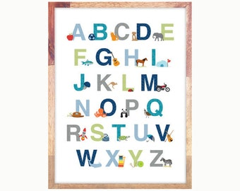 """Printable Alphabet for Download 13x19""""  - Personal Use"""