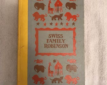 Vintage Swiss Family Robinson Book