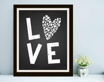 L-O-V-E! Valentine's Print, Valentine's Gift, Valentine's Day, Valentine's Art, Valentines Gift, Valentines Day, Valentines Art, Love Art
