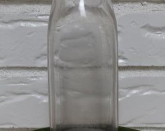 Vintage Milk Bottle, Glass Milk Jug, Dairy Cow Milk Bottle, Glass Bottle, Moo Cow Milk Bottle