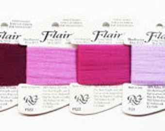 Flair Thread 2.25 Each, Rainbow Gallery Flair Thread, Flair Yarn, Novelty Needlework Threads, Novelty Needlepoint Threads, Flair Netting