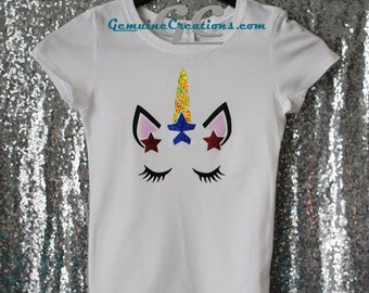 CUSTOM Independant Unicorn T shirt for USA Forth of July