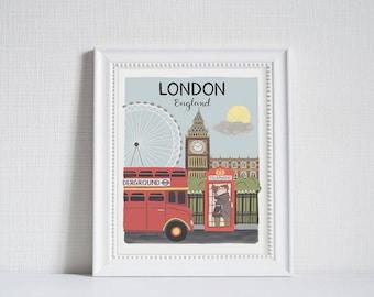 London (City Love) - Art Print (8x10)