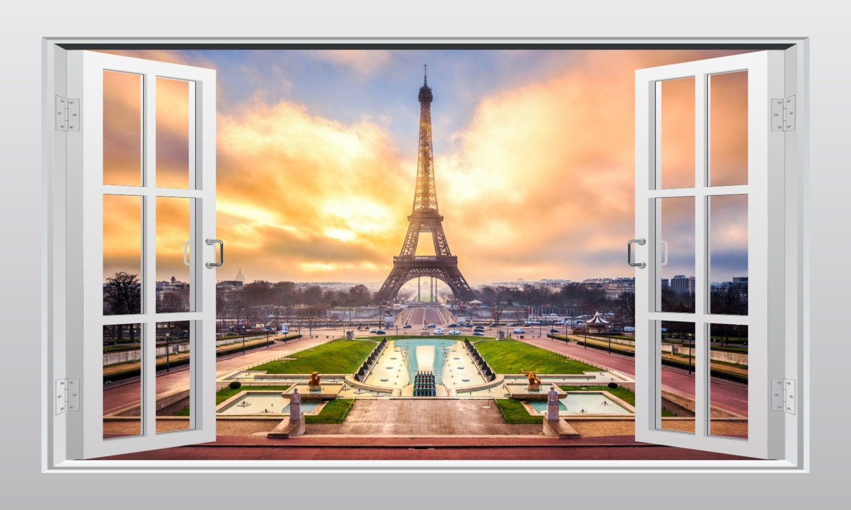 Luxury Eiffel Tower Vinyl Wall Art Pattern - Gallery Wall Art ...