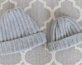Daddy and Me Beanie Set