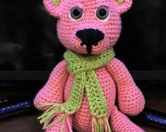 Hand Crochet Poseable appendages Teddy Bear