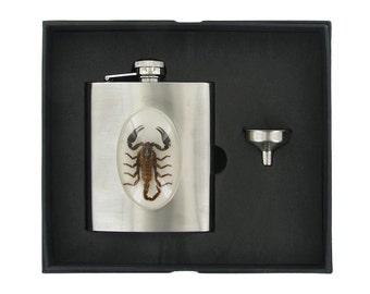 Black Scorpion Flask & Funnel Set