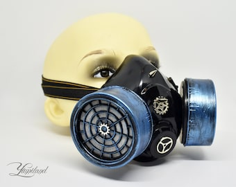 Blue Cosplay Mask | Steampunk Respirator | Gas Mask | Stalker mask | Dust Mask | Cosplay Mask | Burning Man Mask