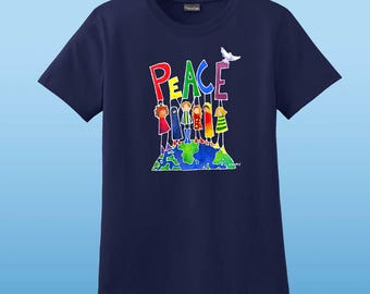 Peace On Earth Womens T-shirt