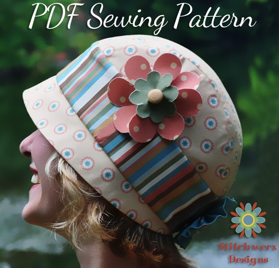 FLAPPER HAT PATTERN Vintage Cloche Hat Sewing Pattern