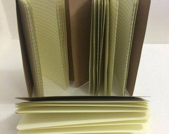 Ivory 24lb 25% Cotton Paper -Media Friendly Traveler's Notebook Insert- ALL Sizes! B6, B6 Slim, Personal, & A6 + Choose Your Cover Color!