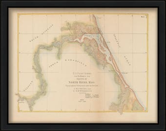 Colored Chart of the North River published in 1872
