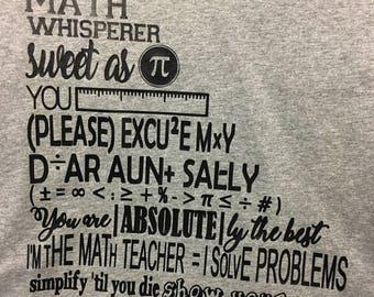 Math Sayings Right Angle Tee  Regular Print-Multiple Shirt Options