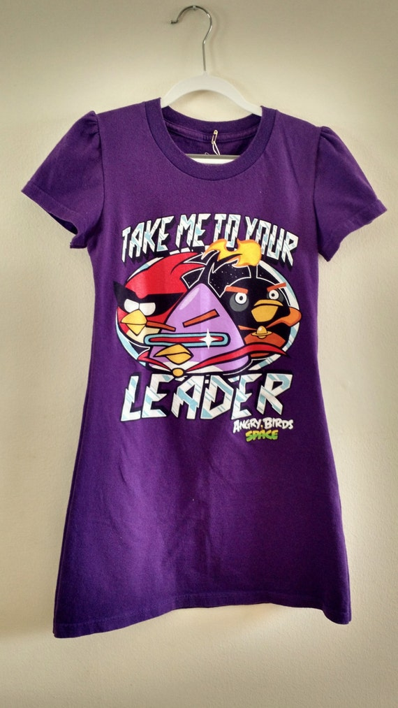 Girls size 10 angry birds space t shirt dress voltagebd Images