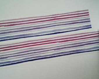 Washi tape pink Purple Blue stripe