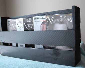 Black Wine/Magazine Rack