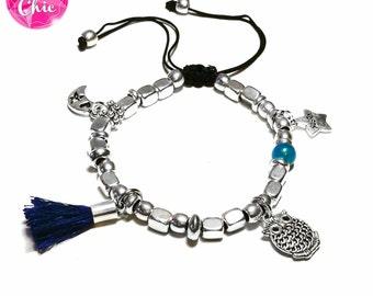Silver bracelet beads charms