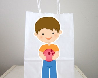 Bowling Goody Bags, Bowling Favor Bags, Bowling Gift Bags, Bowling Party Bags