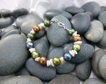 Multi-colored Fresh Water Pearl Bracelet