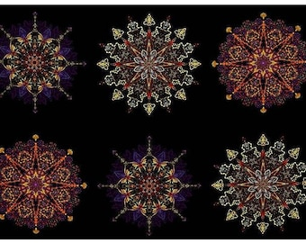 Benartex - Kismet - Purple - Manadals - by Paula Nadlestern - Panel