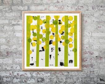 Aspens Green Print