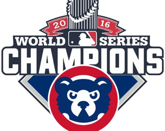Chicago Cubs World Series Champions 2016 MLB Vinyl Sticker Diecut 4 Stickers