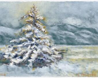 """Greeting Card, New Mexico Landscape Series, """"El Rito Snow Shine #3"""""""