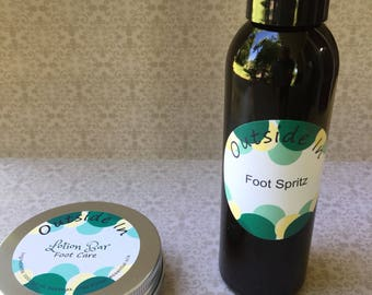 Foot Care lotion bar and spritz
