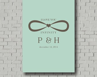 Wedding Guest Book Sign Infinity Guest Book Canvas, Wedding Signs Wedding Gift Wedding Monogram Wedding Guestbook Poster Unique Guestbook