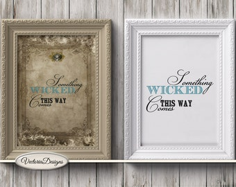 Halloween Quotes Mini Posters printable art prints wall art crafting paper craft instant digital download digital collage sheet - VDWAHA1601